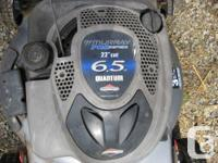 This is a good running 6 1/2hp Briggs and Stratton