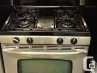 STAINLESS STEEL MAYTAG 4 W AY GAS BURNER FOR SALE, THIS