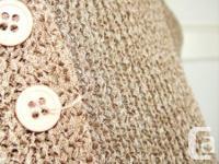 Gaza - Mocha Short Sleeve Knit Top - botton-up front -