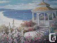 "This lovely print is called ""Gazebo on Beach'. It is a"
