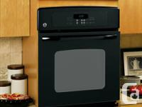 "GE 27"" Built-In Self Clean Single Wall Oven - Black"