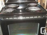 GE Black Range, self cleaning and electronic timer -