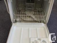 "GE Dishwaser White Plastic Tub H 24"" D 34"" W 24"""