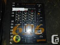 howdy up for sale is my gemini ps 626 pro dj mixer in