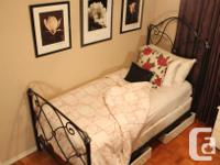- Bombay Cast Iron bed frame, with lots of detail, next