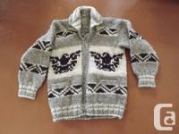 These are as-new genuine Cowichan Sweaters hand knit by