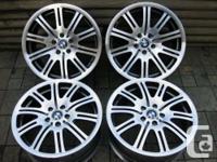 "NICE!!! Gorgeous set of Genuine Factory 19"" BMW M3 rims"