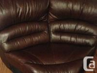 Brown Genuine Leather Sectional piece. This can be