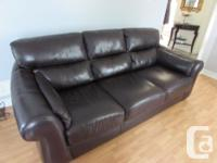 Genuine leather modern sofa and love seat. Price is for