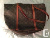 Authentic Louis Vuitton handbag. It has a percentage of