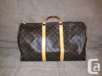 Hey there,. I'm marketing my Louis Vuitton Keepall