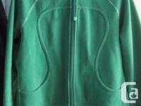Genuine Lululemon Earth Green Scuba Hoodie - Size