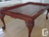 Chippendale-style coffee table with claw-feet  Genuine