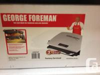 "George Foreman Grill.  ""The Lean Indicate Fat Reducing"