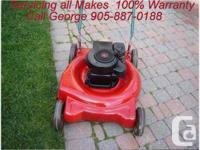 "George's Lawnmower Repair ""Home Service""  Now offering"