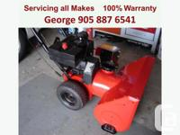 George's Mobile SnowBlower Repair ?Home Service?  Don't