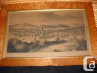 "This antique engraving is ""VIEW OF PERTH 1625"" and has"