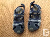 2 pairs....  Blue/ silver size boys US 3/EUR 34 Brown