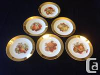 Set of 6 Winterling Plates  Bavaria Western Germany