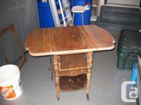 Gibbard Antique Walnut Tea Cart...Original 1931.This