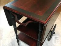 GIBBARD TEA CART This is a refinished piece, but is