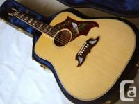 Mint condition Gibson Dove with original hardshell