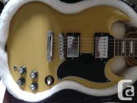 Selling my band-new Gibson SG Tv yellow. Along with a