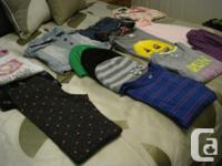 Includes 5 t shirts, 1 blouse, 1 pair of pajamas, 1