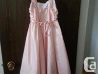 Girl's blush pink tea length size 7-8 dress and