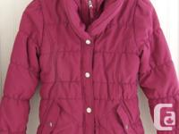 Liv a Little pink winter coat, lined in warm light pink