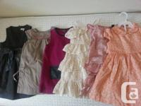 1. jacadi 2T big bow dress 25$  2.jacadi 2T kaki 20$