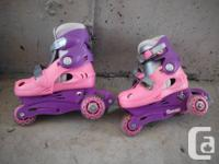 My daughter enjoyed these skates very much but they