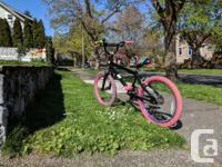 Great bike for a girl, 20 inch wheels, single speed,