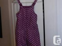 I have a purple snowsuit with hearts for sale.  In