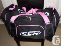 Ladies Black as well as Hot Pink Hockey Bag fo sale. In