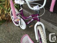 Girls bike in excellent condition. Always garage