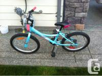 "For sale 20"" girls bike.  Bought new and looked after."