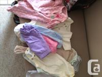Lululemon bag full of girls clothes - all newborn and 3