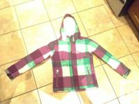 Girls Firefly Plaid Jacket - size S (8) Perfect for
