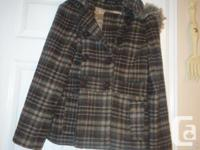 For Sale: Eclipse girls Plaid Coat with hair around