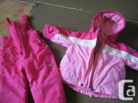 Girls PINK/White 18 months 3 in one Winter Jacket and