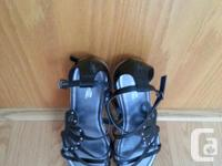 Girls Multi Strap Sandals. New. Black. Size 4 1/2.