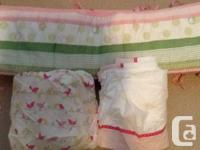 I have the Penelope pink and green crib bumper, sheet,