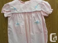 very cute Girls pink Summer Dress, vintage Toddler