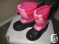 Girls pink Joe Fresh winter boots - 7T Pre-owned in