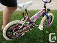 Girls Purple Kent Bike - Needs a rear Tire replaced