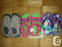 Variety of toddler girl's footwear size 8-9 - all