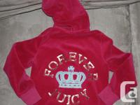 Juicy Couture Pink Hoodie (small mark on sleeve) - size