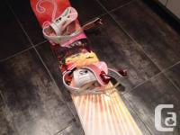 Brand new condition Sims Star girls snowboard. Used
