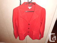 1 red ONE HUNDRED % wool sweater/jacket. Investments -